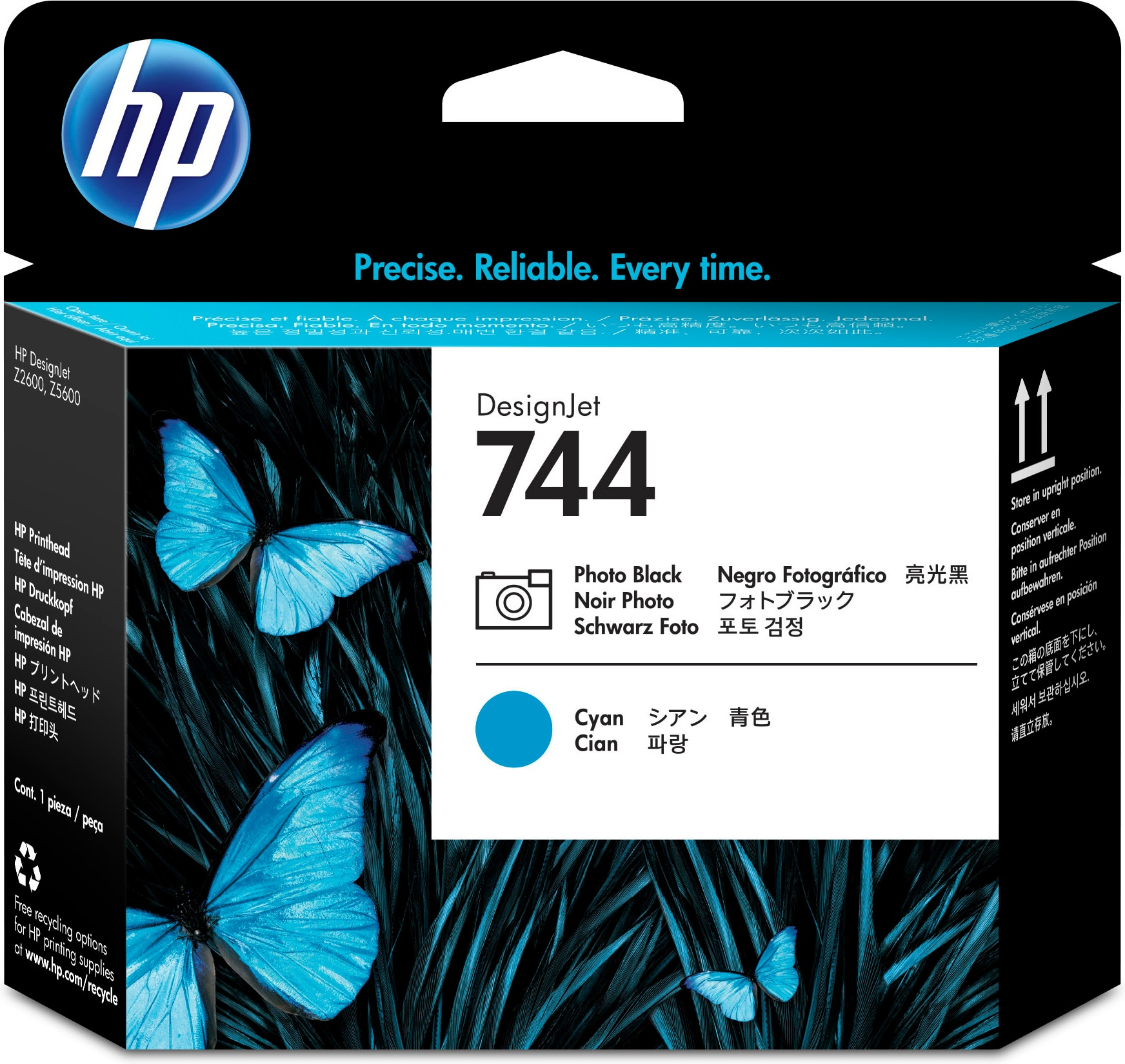 Hp 744 Photo Black & Cyan Printhead F9j86a - WC01
