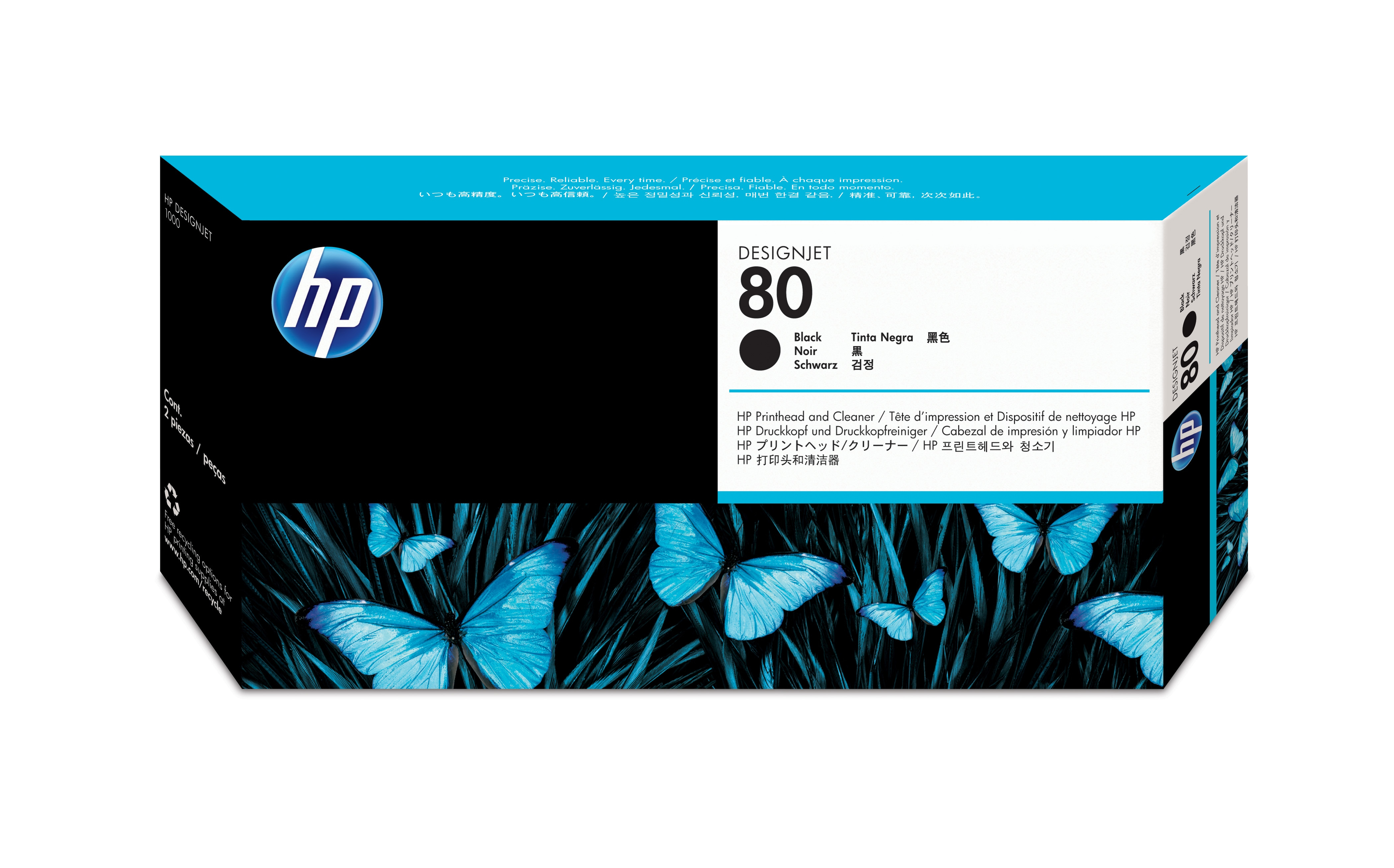 HP No. 80 Ink Printhead And Cleaner - Black  C4820a