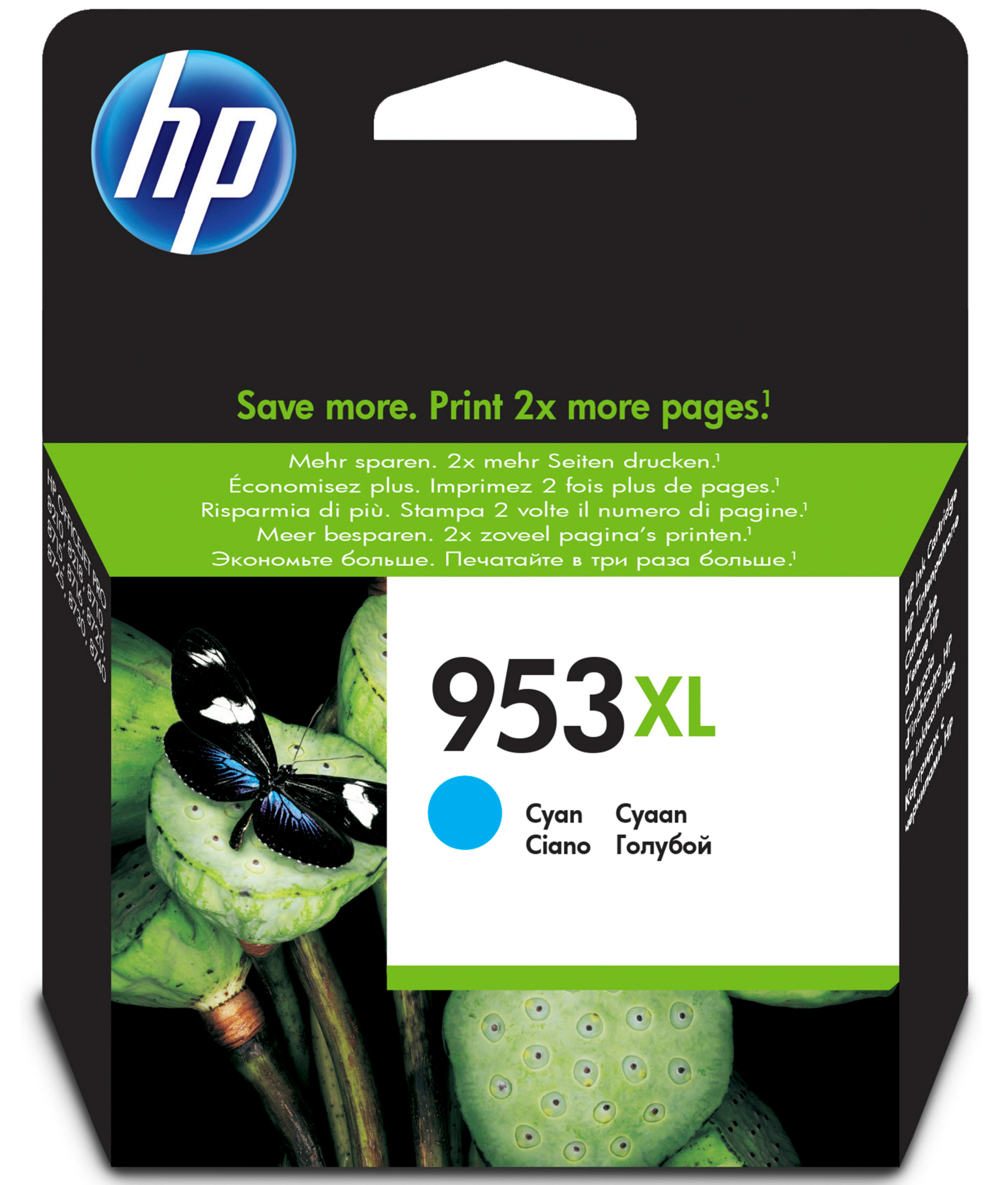 HP Hp 953xl Original Hy Ink Cart Cyan F6u16ae - AD01