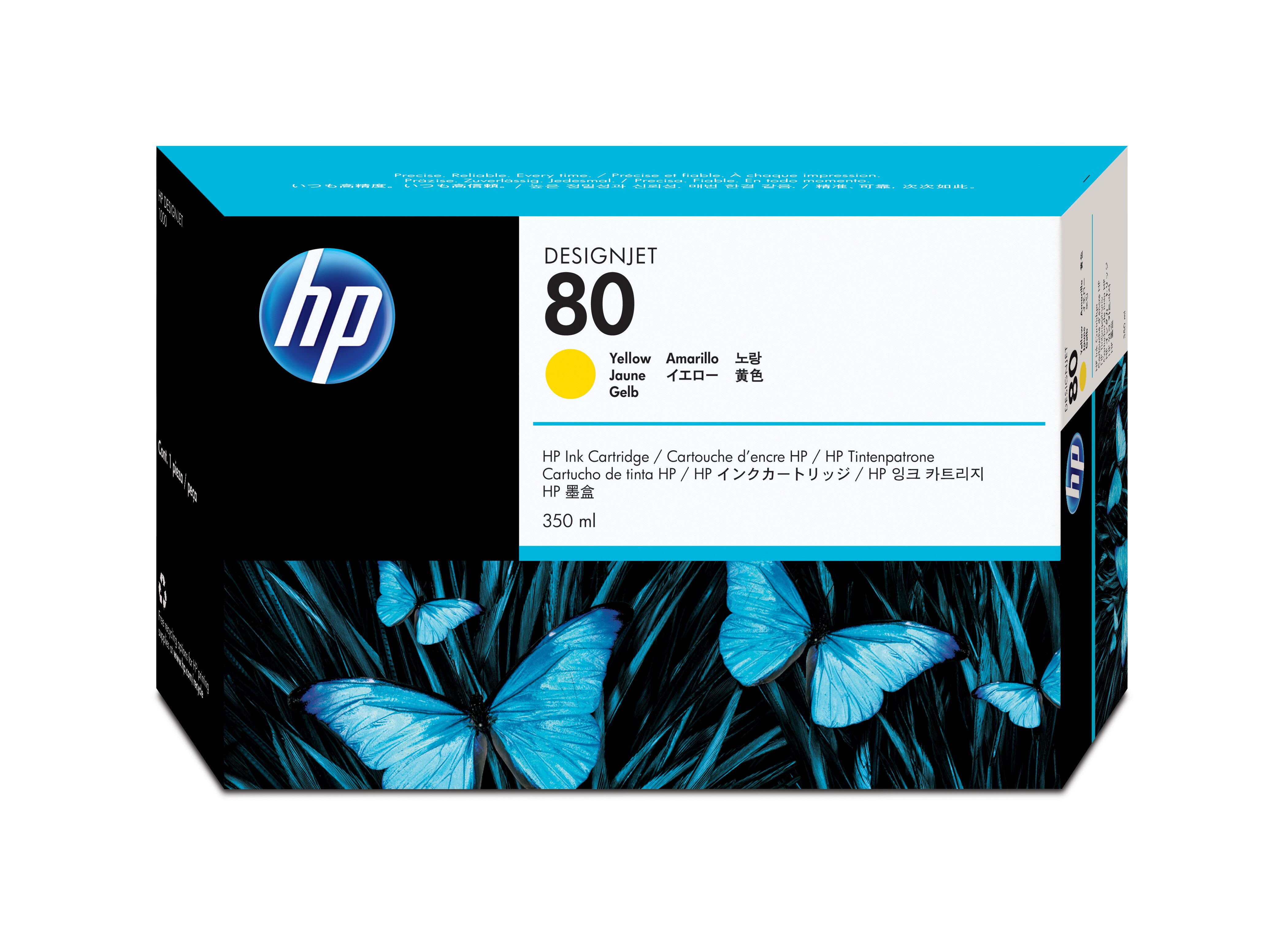Hp Yellow Ink Cartridge No.80 350ml C4848a - WC01