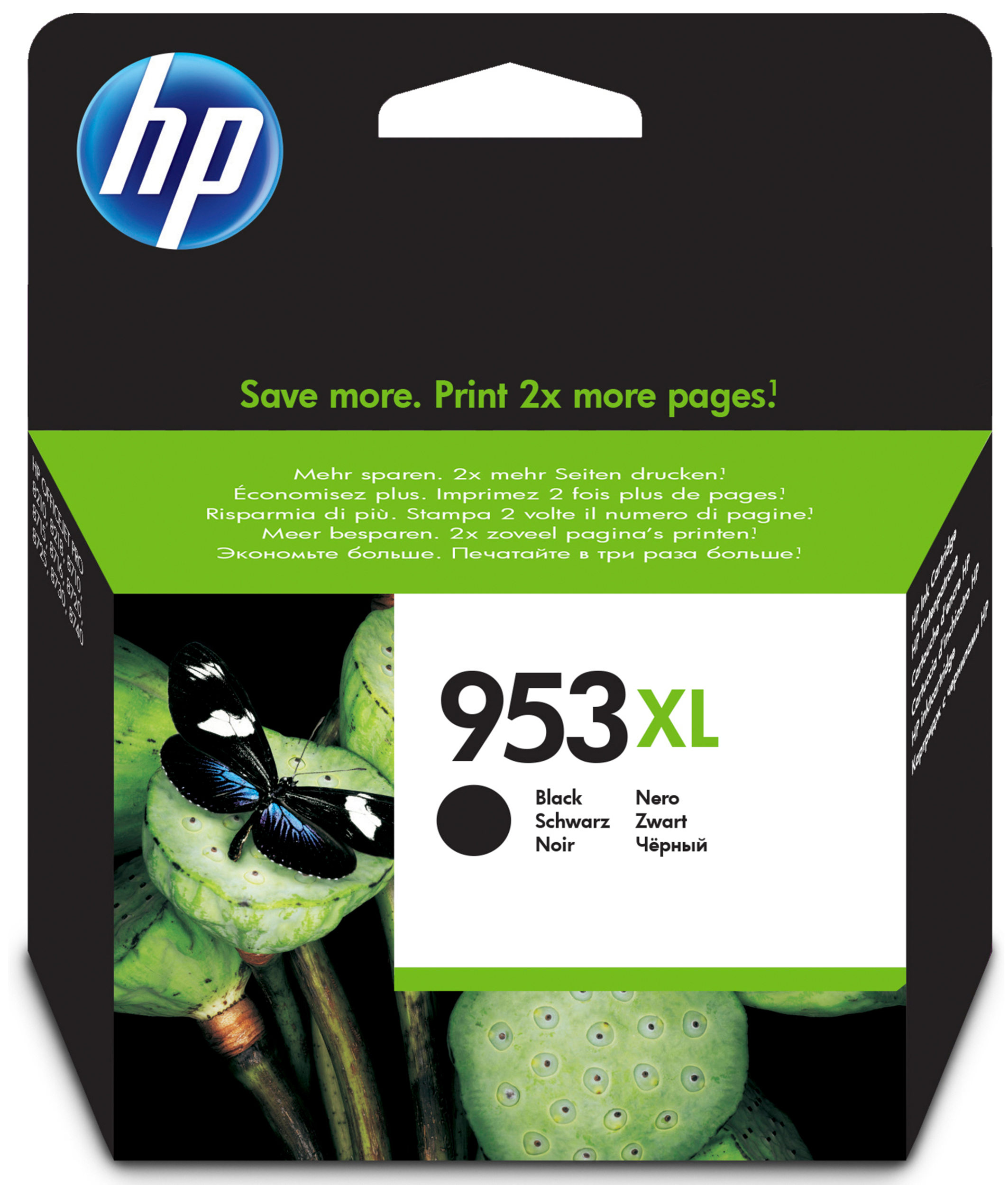 HP 953XL - 42.5 Ml - High Yield - Black - Original - Ink Cartridge - For Officejet Pro 8218, 8710, 8715, 8720, 8725, 8730, 8740, 8745 L0S70AE#BGX - C2000