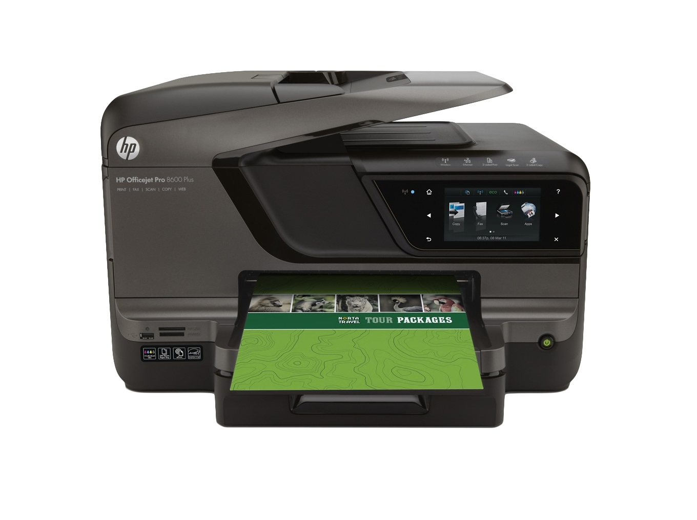 HP OfficeJet Pro 8600 Plus EAIO/ Colour/ A4/ 20ppm Mono 16ppm Colour/ Network/ Duplex/ Fax/ WiFi CM750A - Refurbished