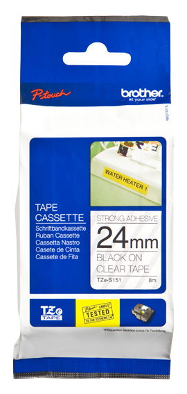 Bro Adhesive Tape 24mm Blk On Clear Tzes151 - WC01