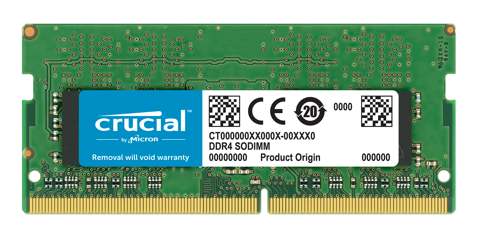 Crucial - DDR4 - 16 GB - SO-DIMM 260-pin - 2400 MHz / PC4-19200 - CL17 - 1.2 V - Unbuffered - Non-ECC CT16G4SFD824A - C2000