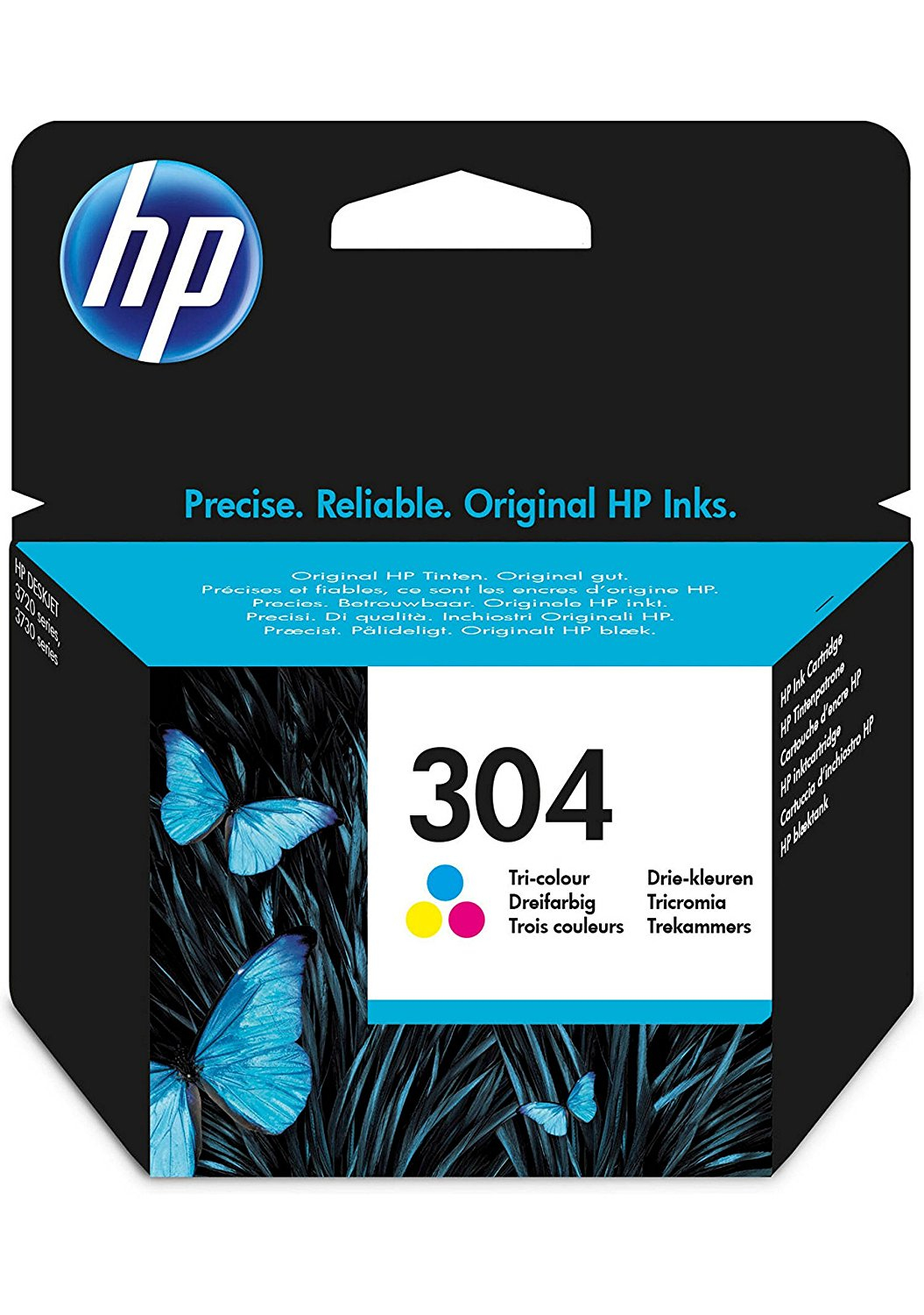 Hp - Inkjet Supply (pl1n) Mvs    Ink Cartridge No 304 Tri-color      De/fr/nl/be/uk/se/it                N9k05ae#uus