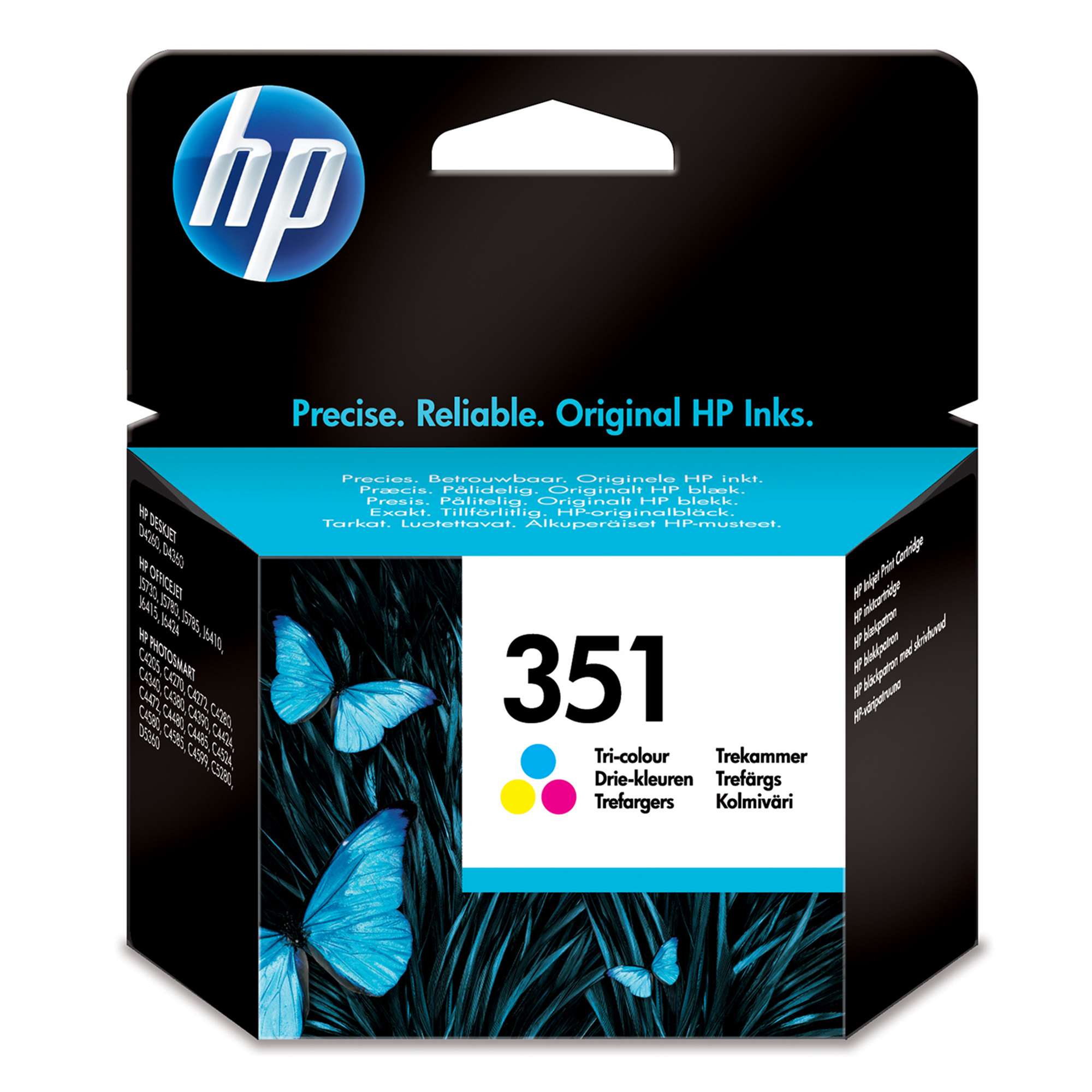 Hpcb337ee      Hp 351 Tri-colour Inkjet       Hp 351 Tri-colour Inkjet Print Cartridge With Vivera Inks    - UF01