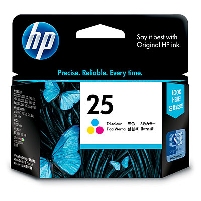 Remanufactured HP 51625AE (25) Colour Ink Cartridge 51625A - rem01