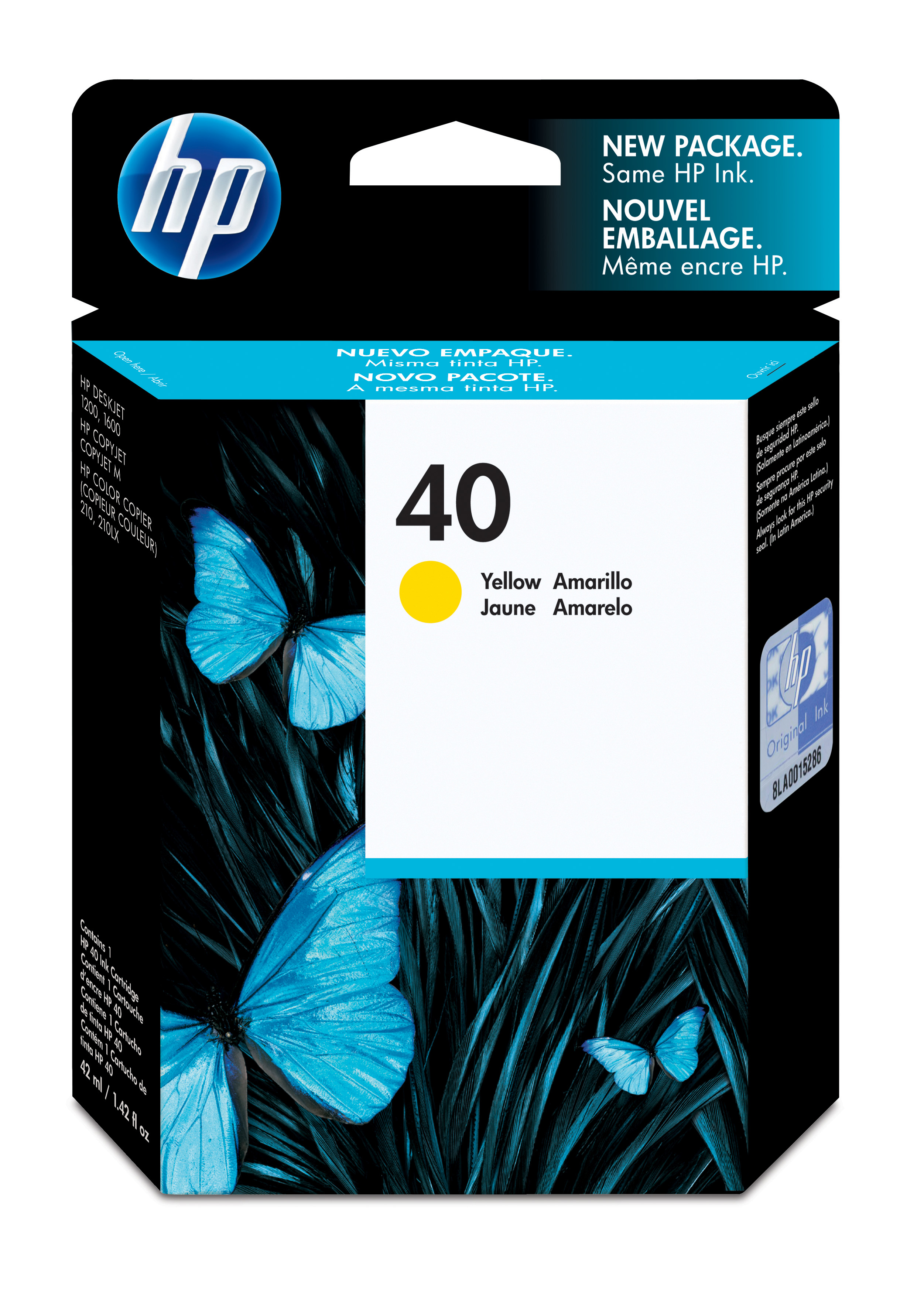 Remanufactured HP 51640YE (40) Yellow Ink Cartridge 51640Y - rem01