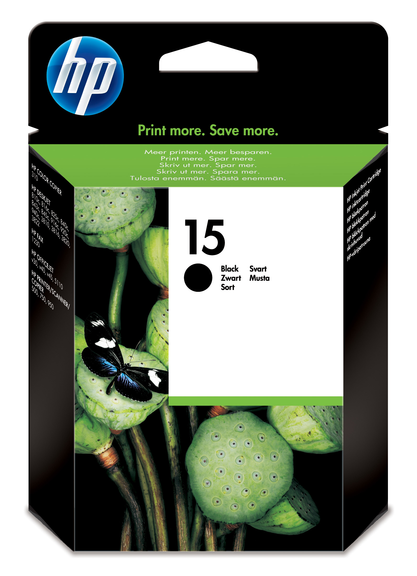 Remanufactured HP C6615DE (15) Black Ink Cartridge C6615D - rem01