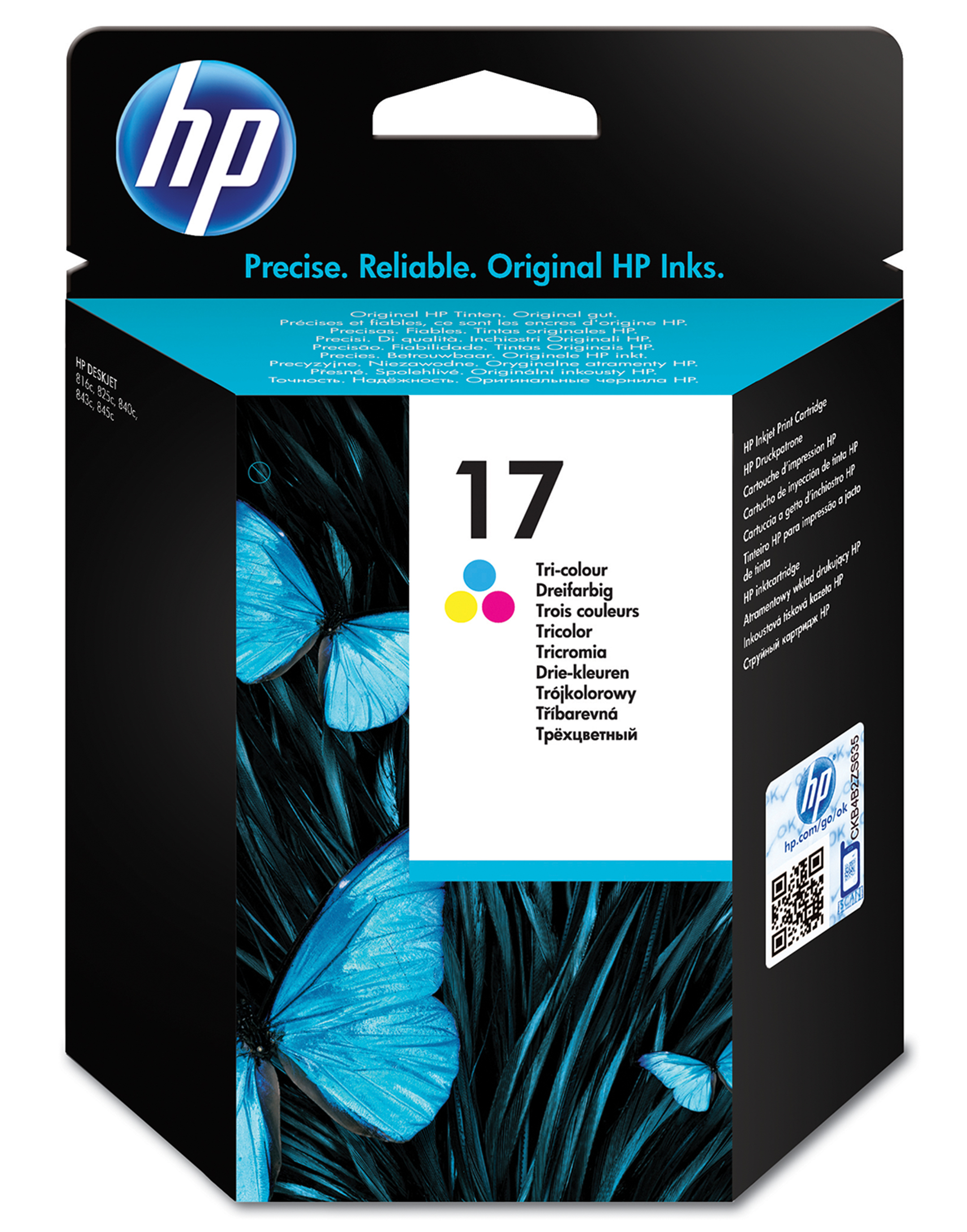 Remanufactured HP C6625AE (17) Colour Ink Cartridge C6625A - rem01