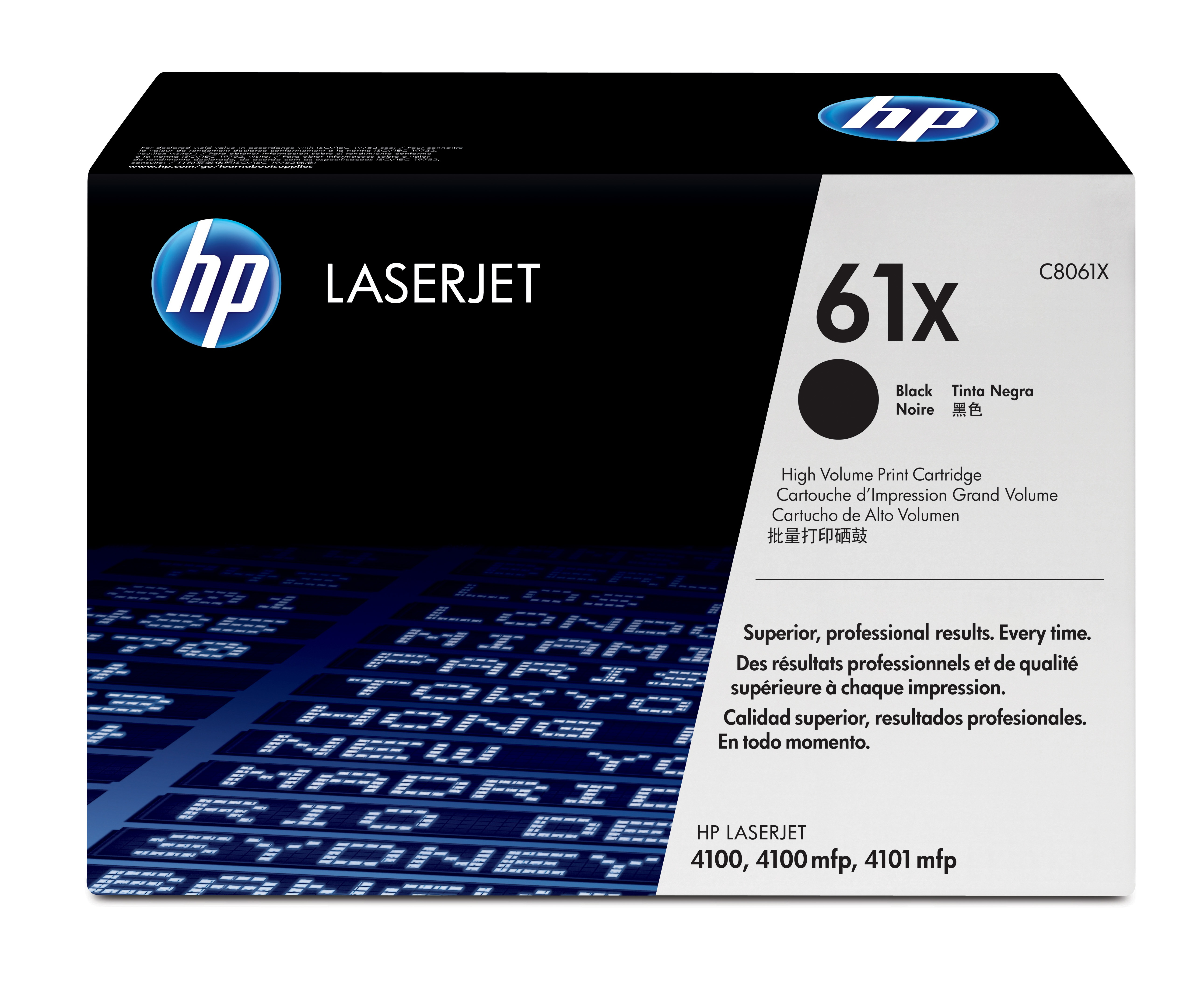 Remanufactured HP C8061X Toner Cartridge Black 10K C8061X - rem01