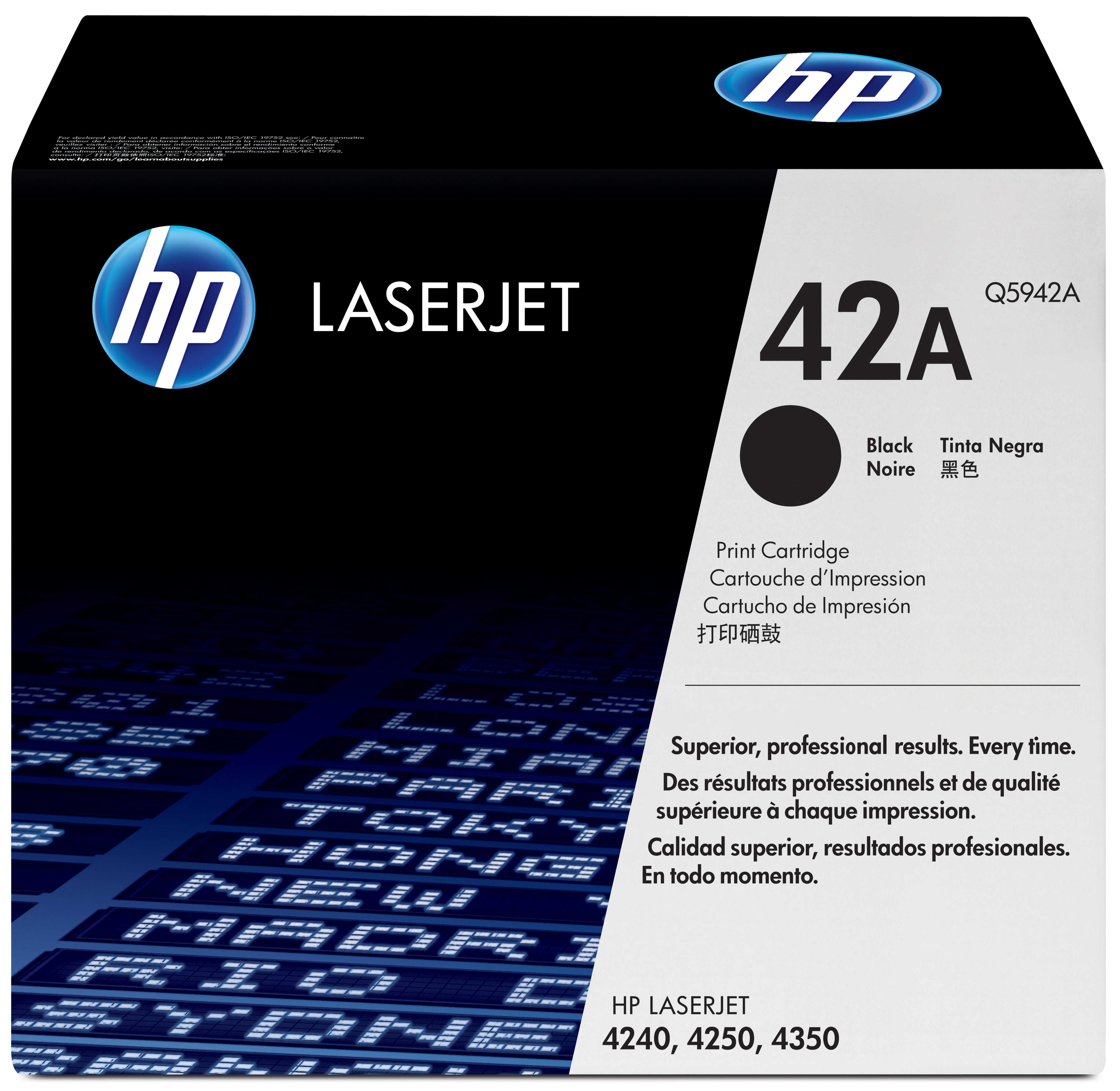 Remanufactured HP Q5942A (42A) Black Toner 10k Q5942A - rem01
