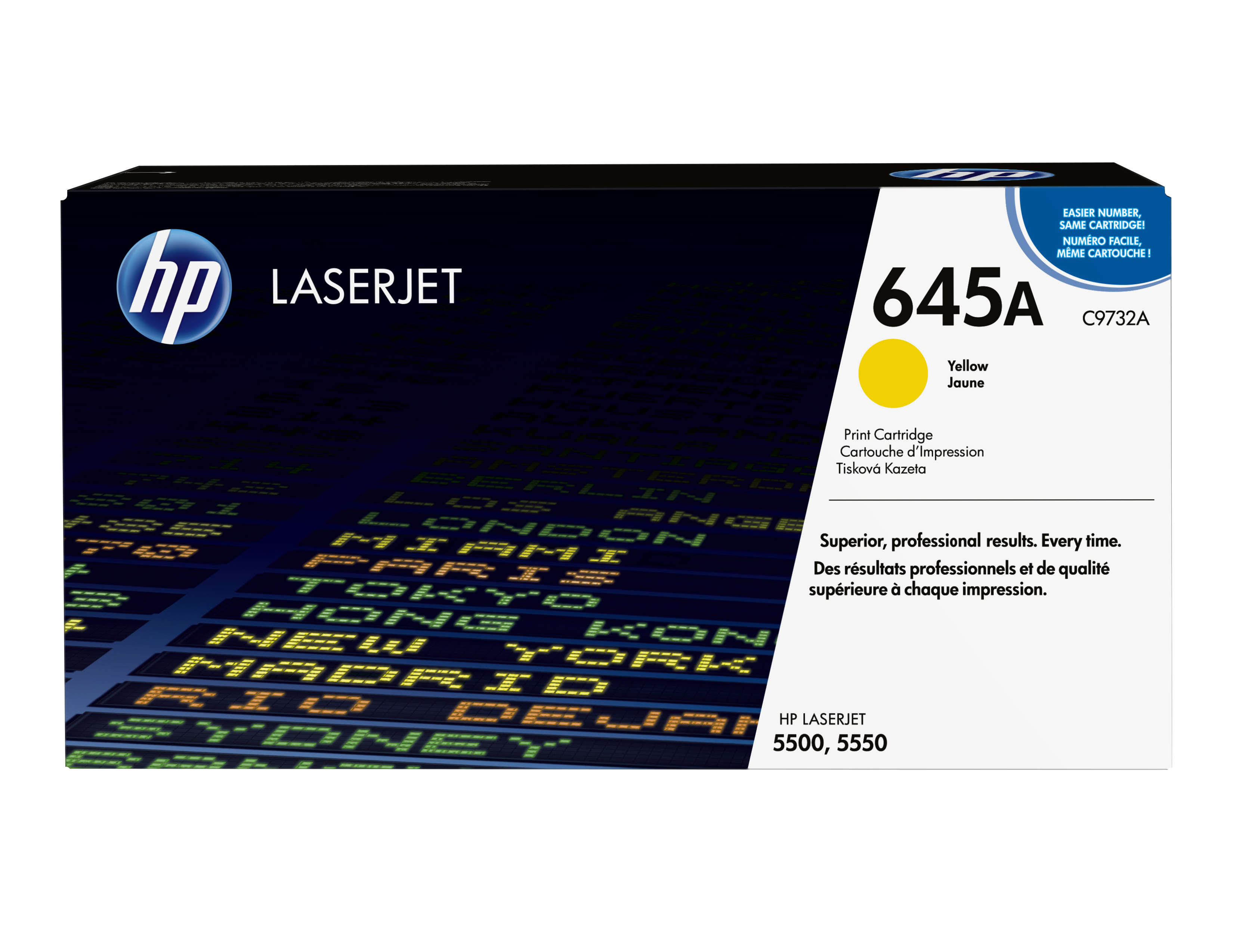Remanufactured HP C9732A Toner Cartridge Yellow 12K C9732A - rem01