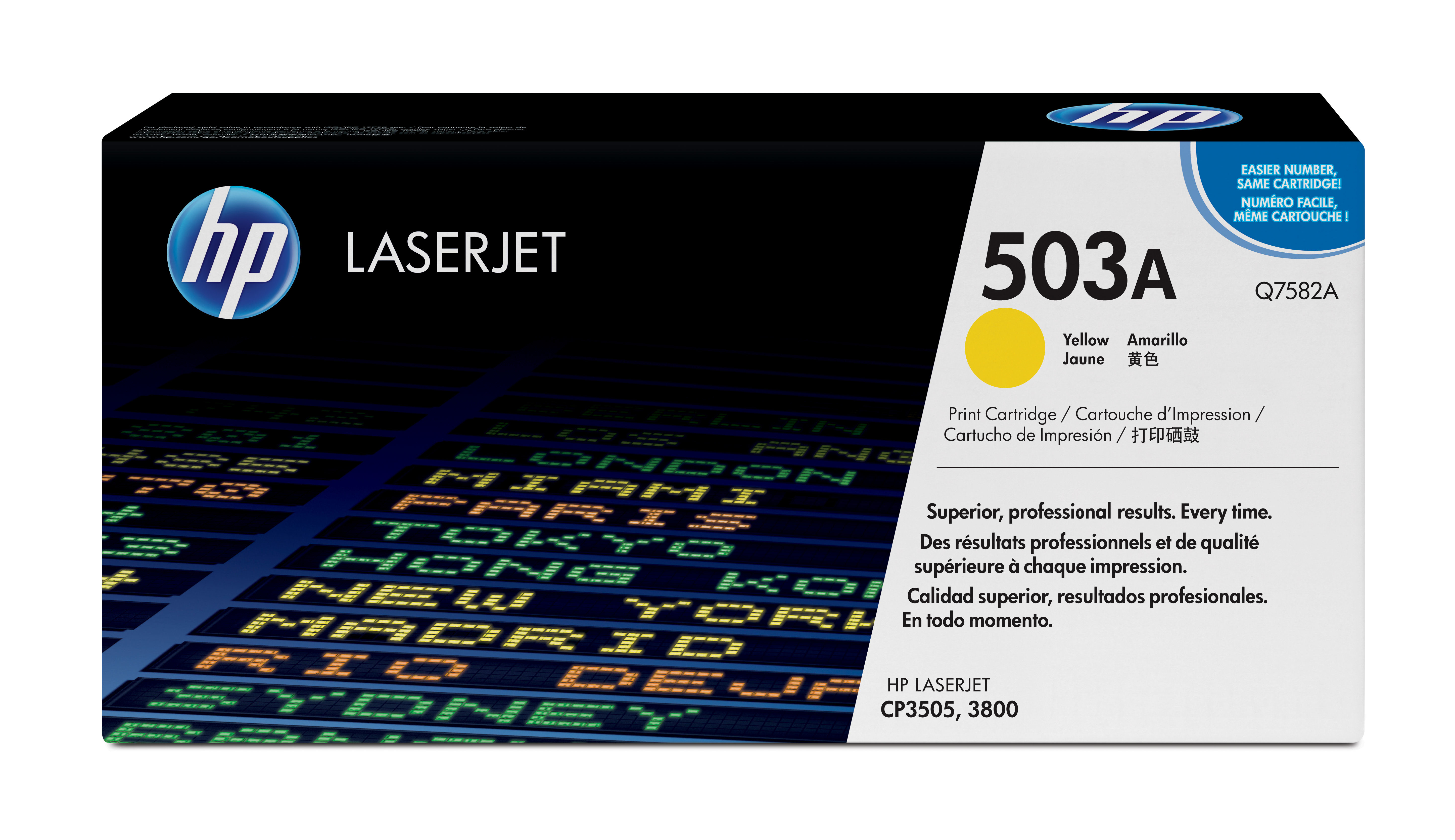 Remanufactured HP Q7582A Toner Cartridge Yellow 6K Q7582A - rem01