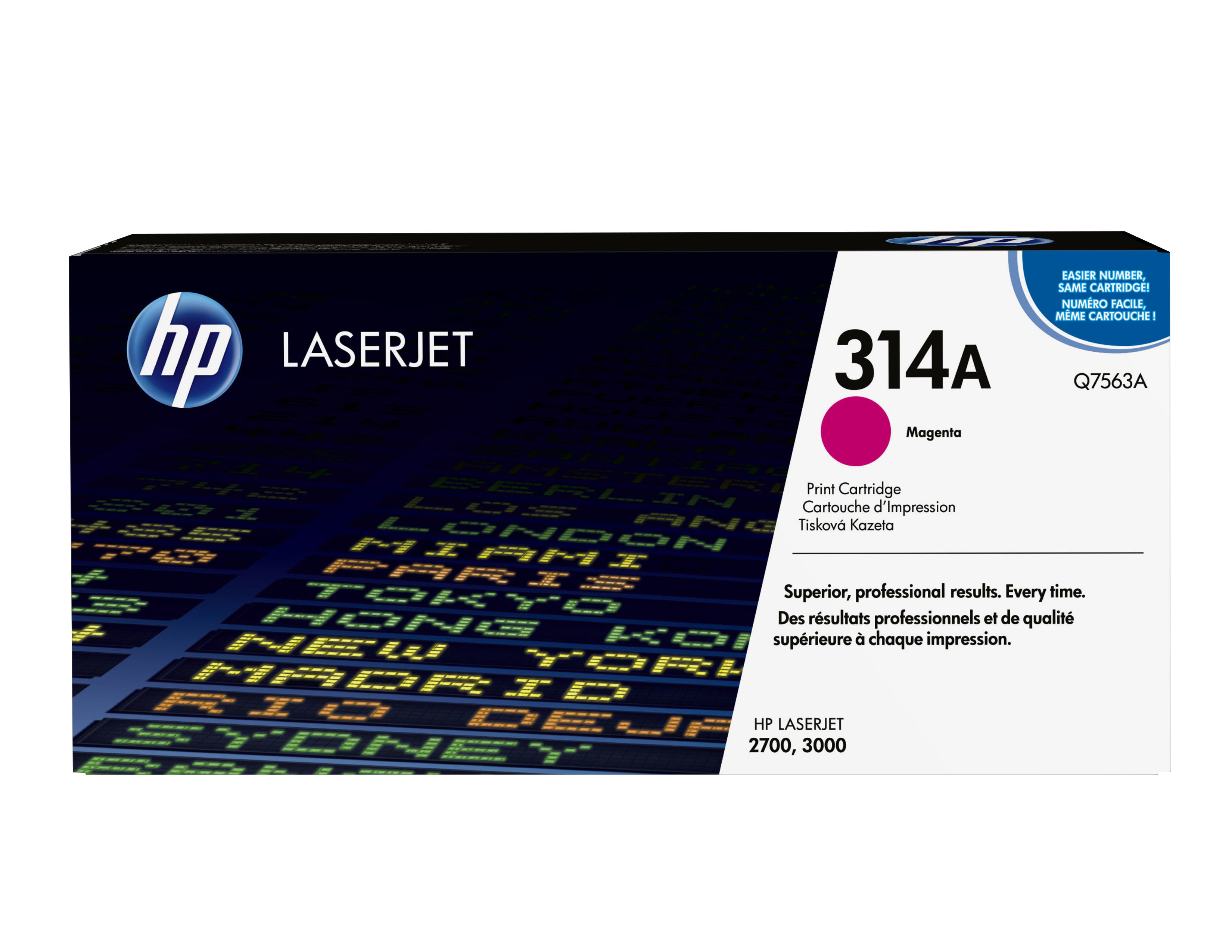 Remanufactured HP Q7563A Toner Cartridge Magenta 4K Q7563A - rem01