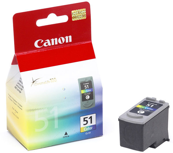 Remanufactured Canon 0618B001AA (CL51) Colour Ink Cartridge CL51 - rem01