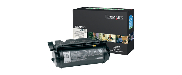 Remanufactured Lexmark 12A7465 Black Toner Cartridge 32K Return Program 12A7465 - rem01