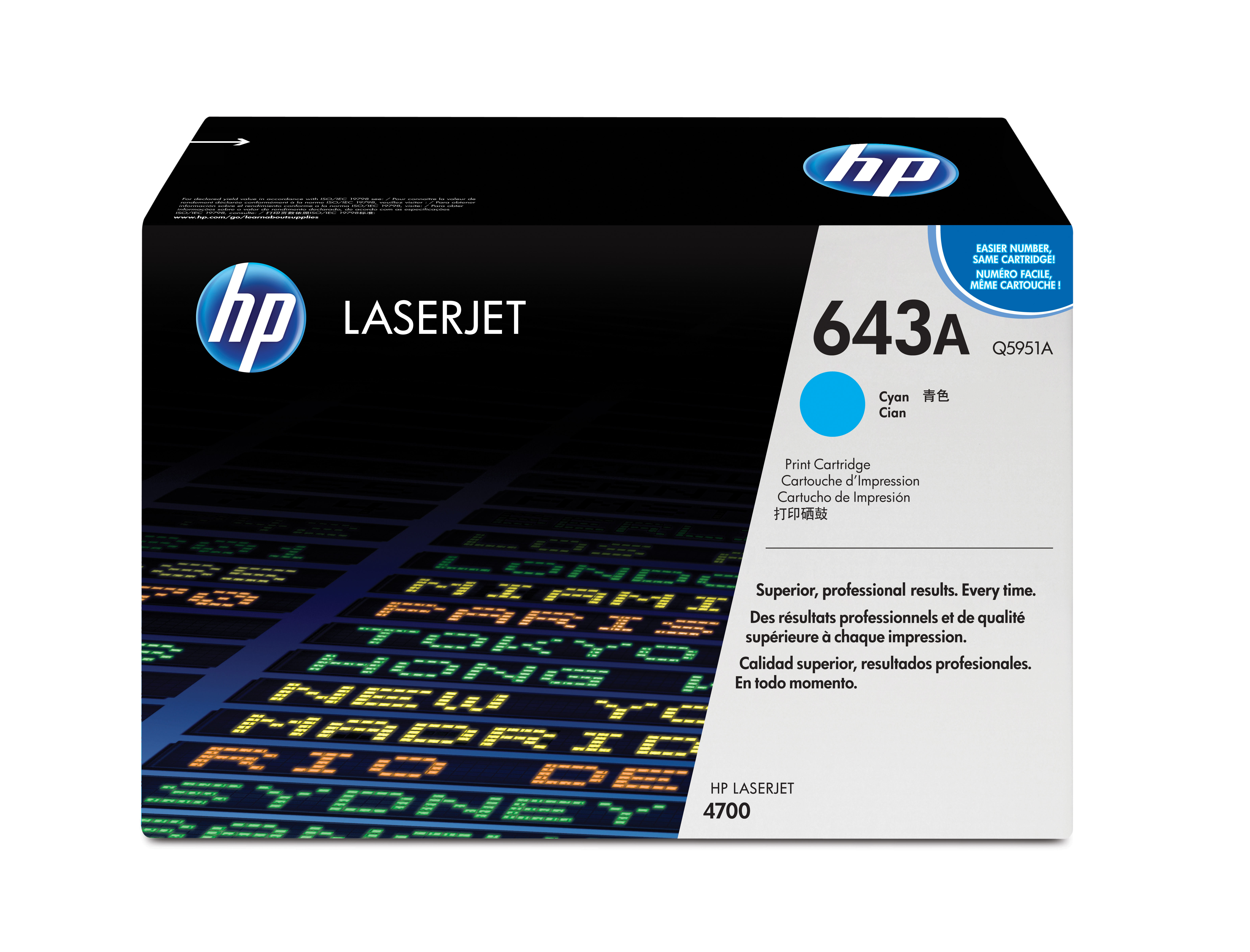 Remanufactured HP Q5951A Toner Cartridge Cyan 10K Q5951A - rem01