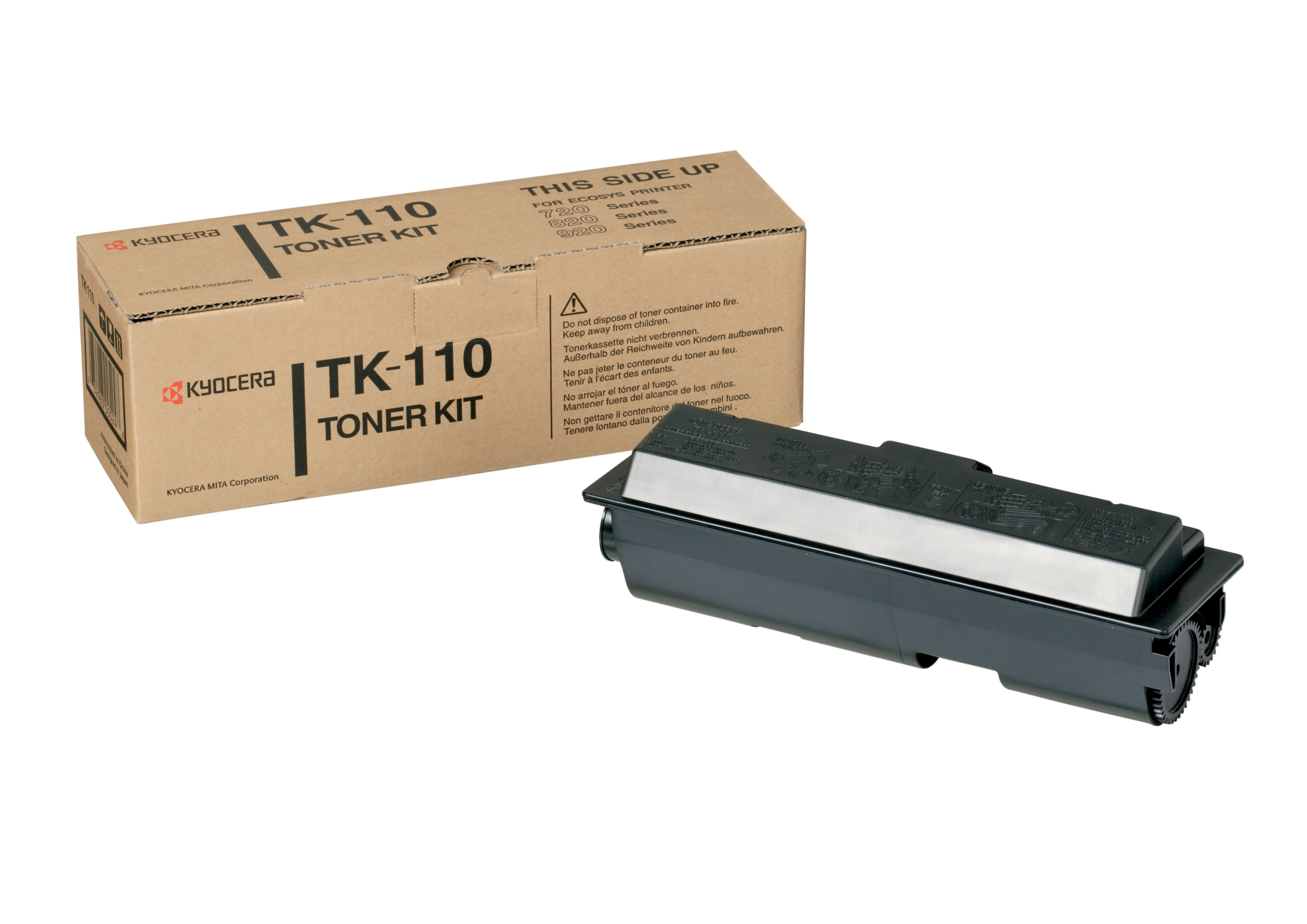 Remanufactured Kyocera Tk-110 Toner Cartridge Black TK-110 - rem01