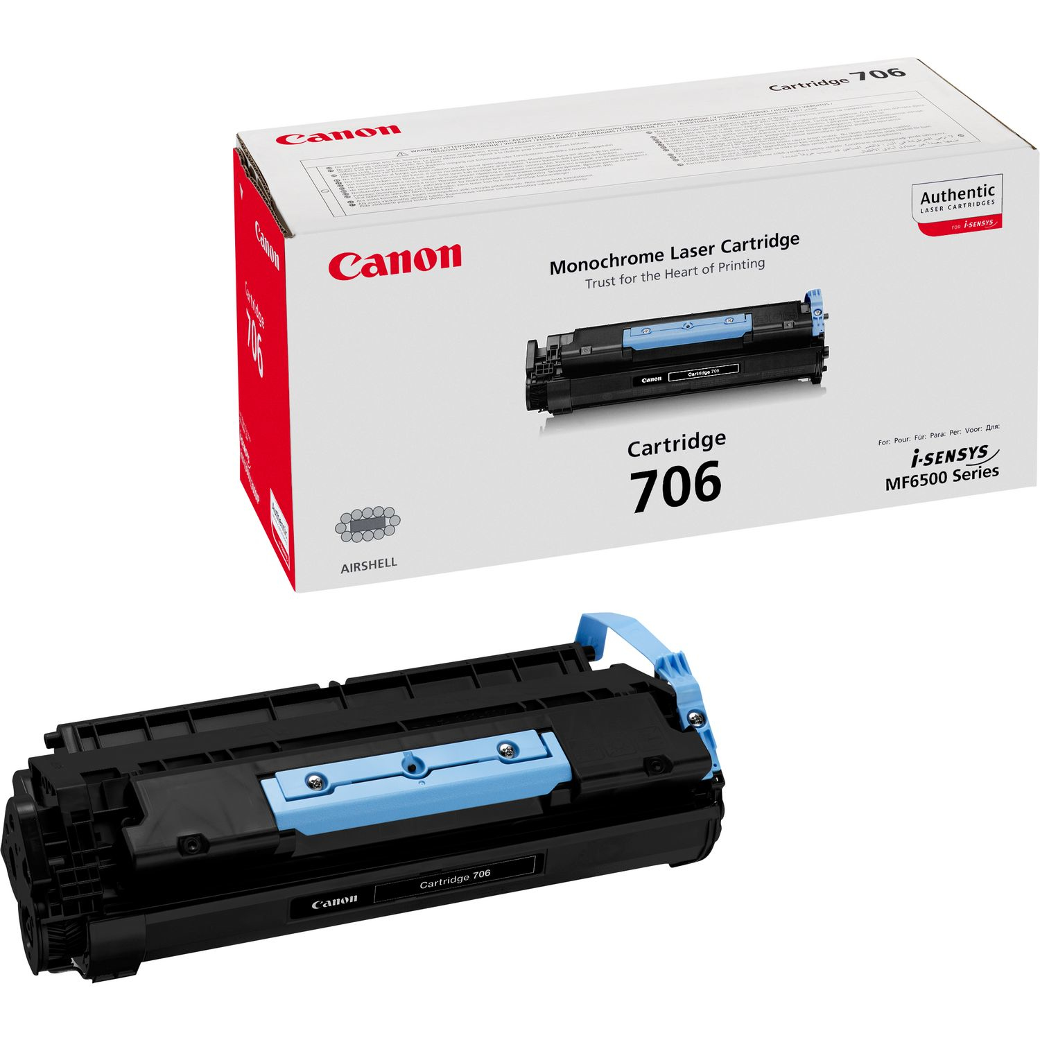 Remanufactured Canon Cartridge-706 Toner Cartridge Black 706 - rem01