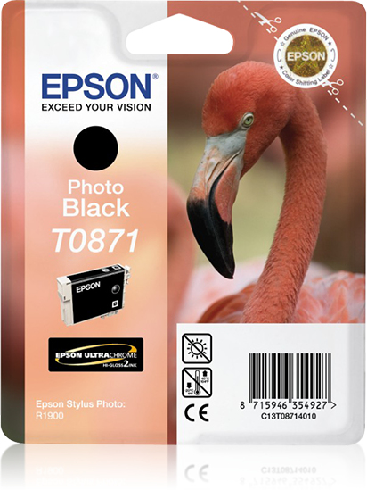 Compatible Epson C13T08714010 (T0871) Photo Black Ink Cartridge T871 - rem01