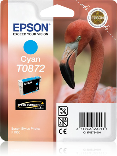 Compatible Epson C13T08724010 (T0872) Cyan Ink Cartridge T872 - rem01