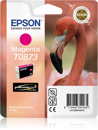 Compatible Epson C13T08734010 (T0873) Magenta Ink Cartridge T873 - rem01