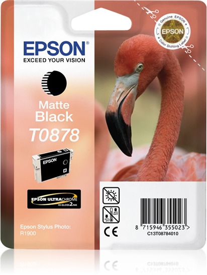 Compatible Epson C13T08784010 (T0878) Matt Black Ink Cartridge T878 - rem01