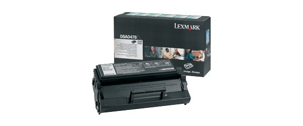 Remanufactured Lexmark 08A0478 Toner Cartridge Black 08A0478 - rem01
