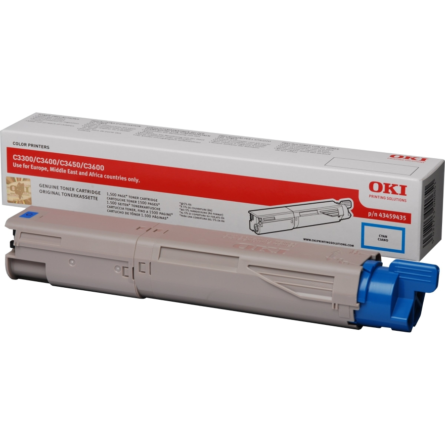 Remanufactured Oki 43459435 Toner Cartridge Cyan 43459435 - rem01