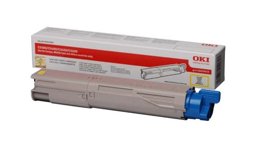 Remanufactured Oki 43459433 Toner Cartridge Yellow 43459433 - rem01
