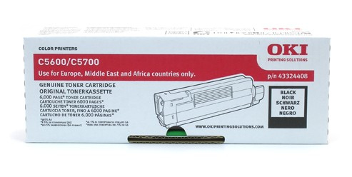Remanufactured Oki 43324408 Toner Cartridge Black 43324408 - rem01