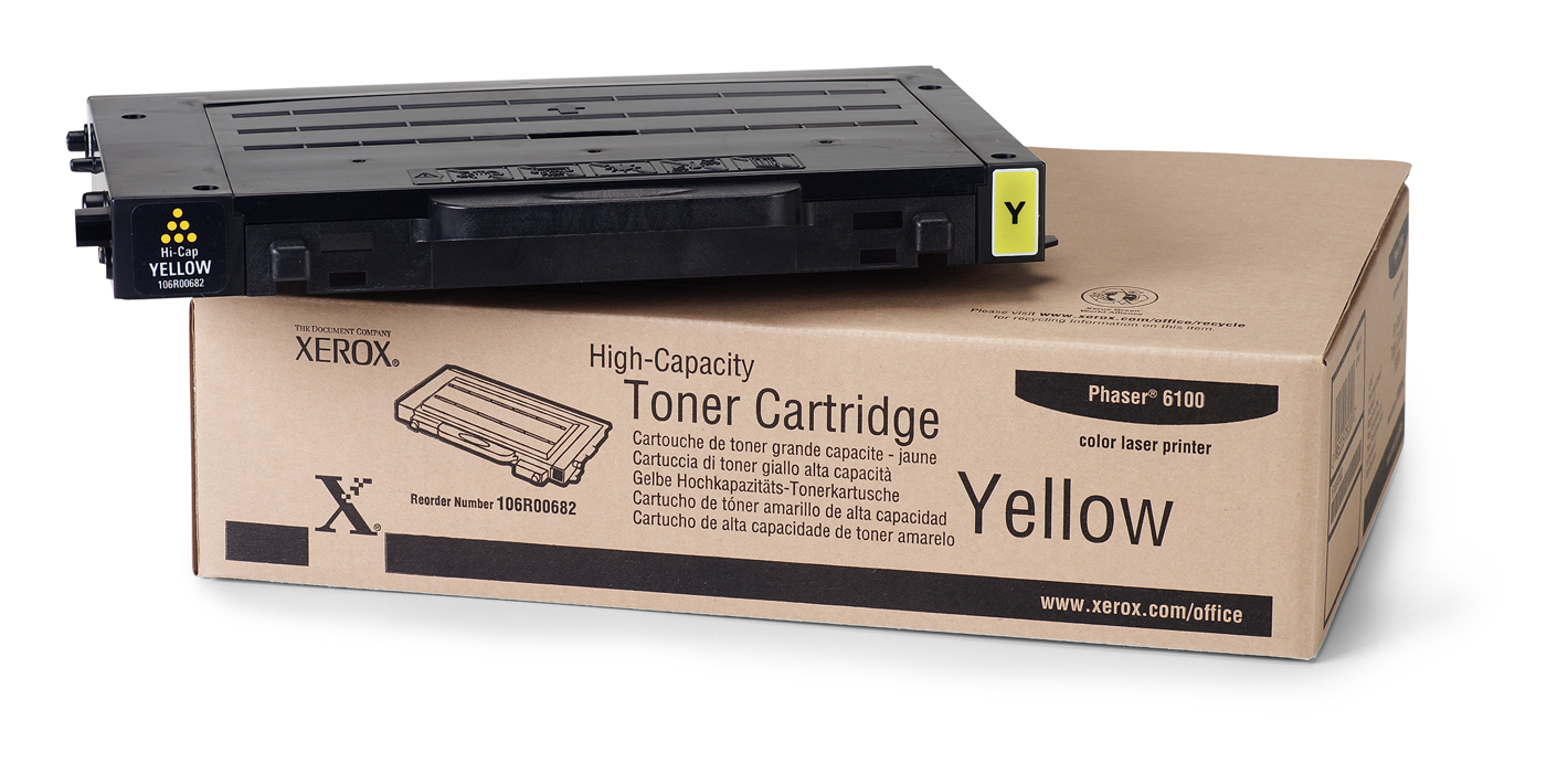 Remanufactured Xerox 106R00682 Toner Cartridge Yellow 106R00682 - rem01
