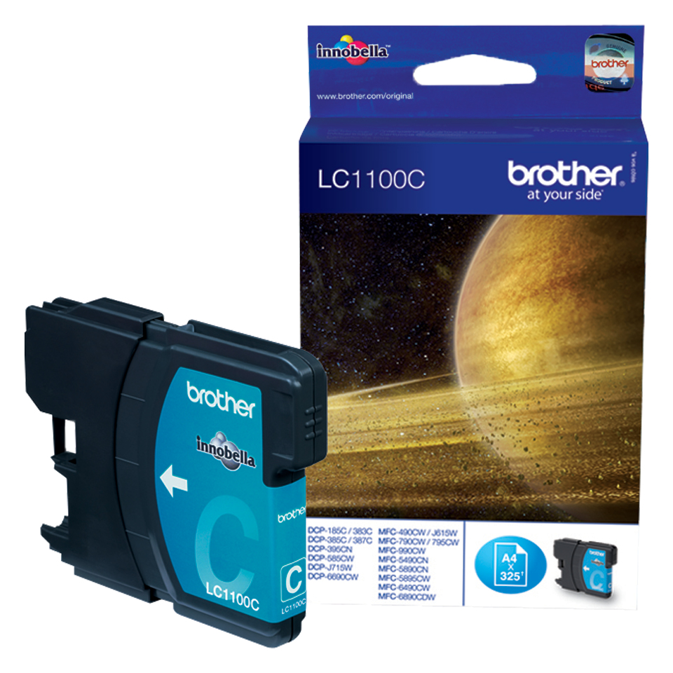 Blue Box Compatible Brother (LC1100C) Cyan Ink Cartridge LC1100C - rem01