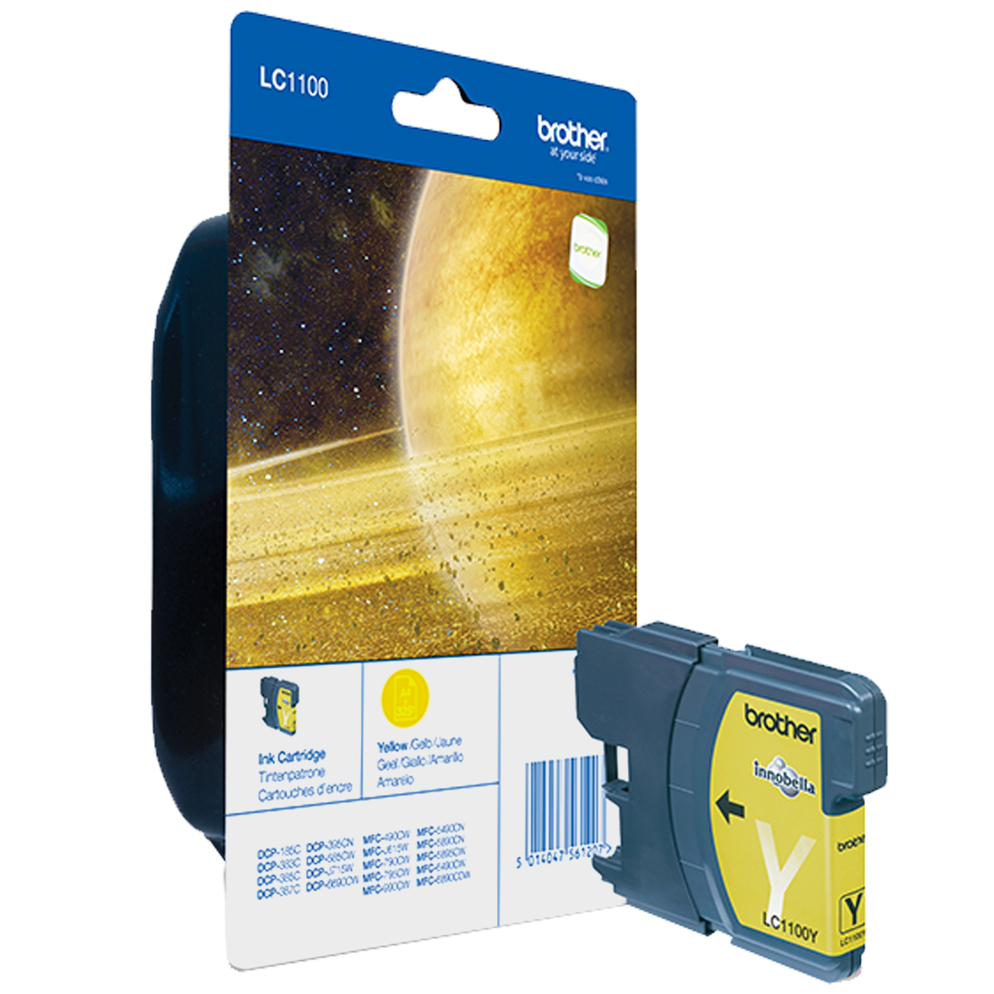 Blue Box Compatible Brother (LC1100Y) Yellow Ink Cartridge LC1100Y - rem01