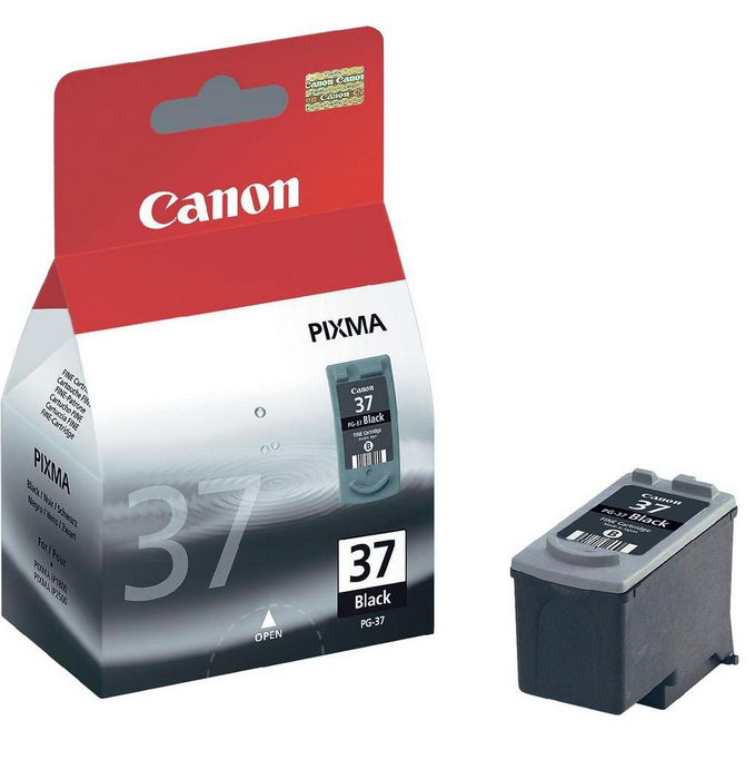 Remanufactured Canon 2145B001AA (PG37) Black Ink Cartridge PG-37 - rem01