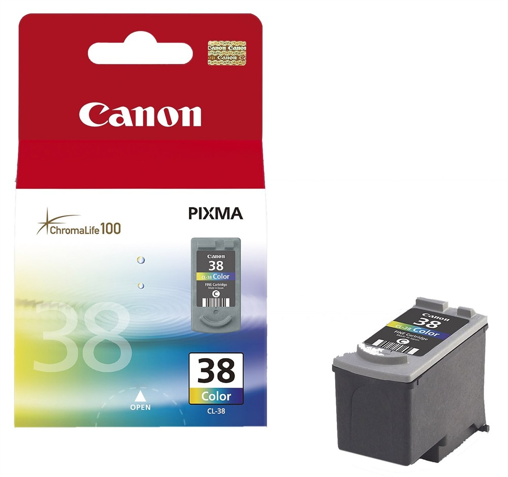 Remanufactured Canon 2146B001AA (CL38) Colour Ink Cartridge CL-38 - rem01
