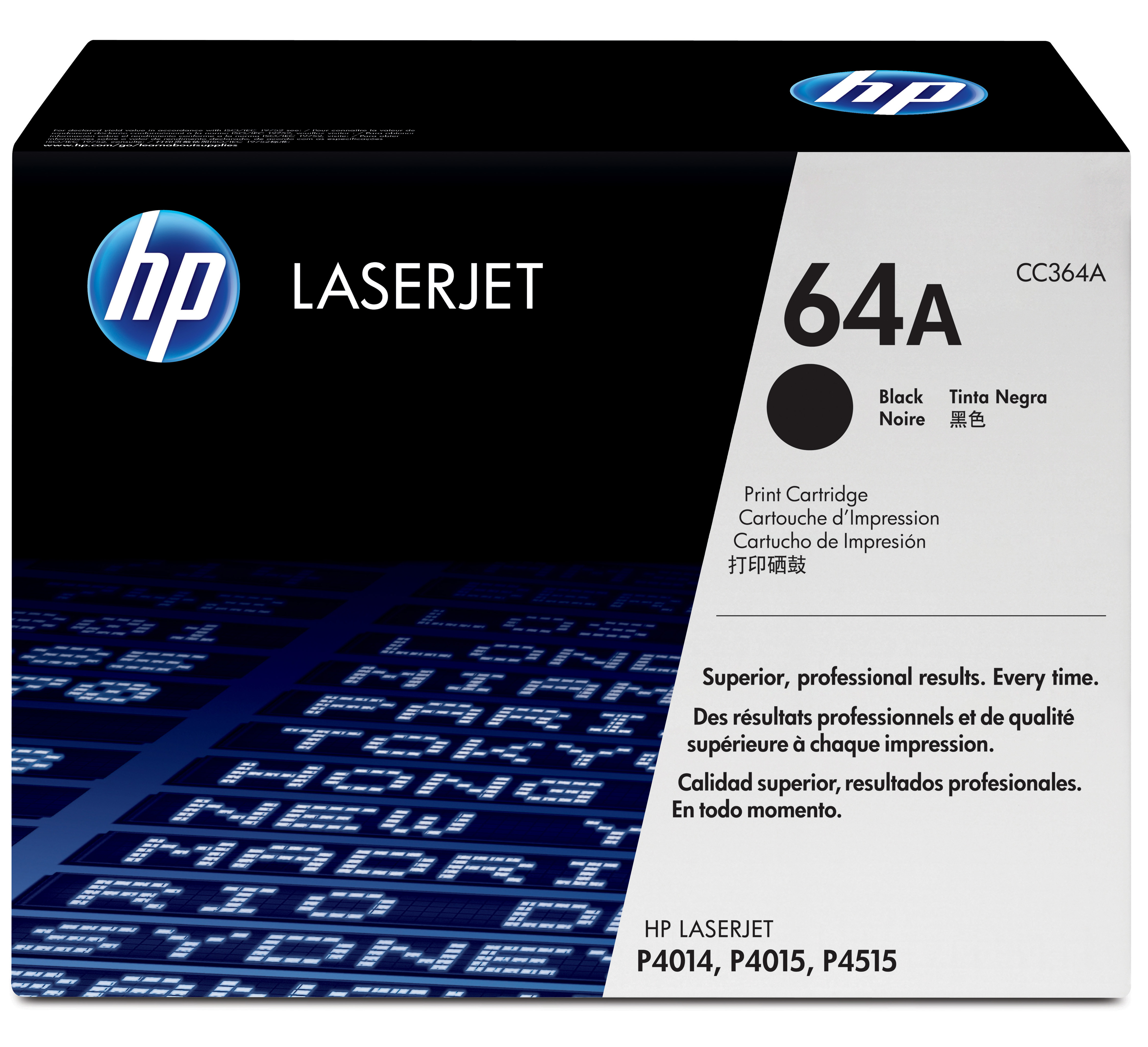 Remanufactured HP CC364A Toner Cartridge Black 10k CC364A - rem01