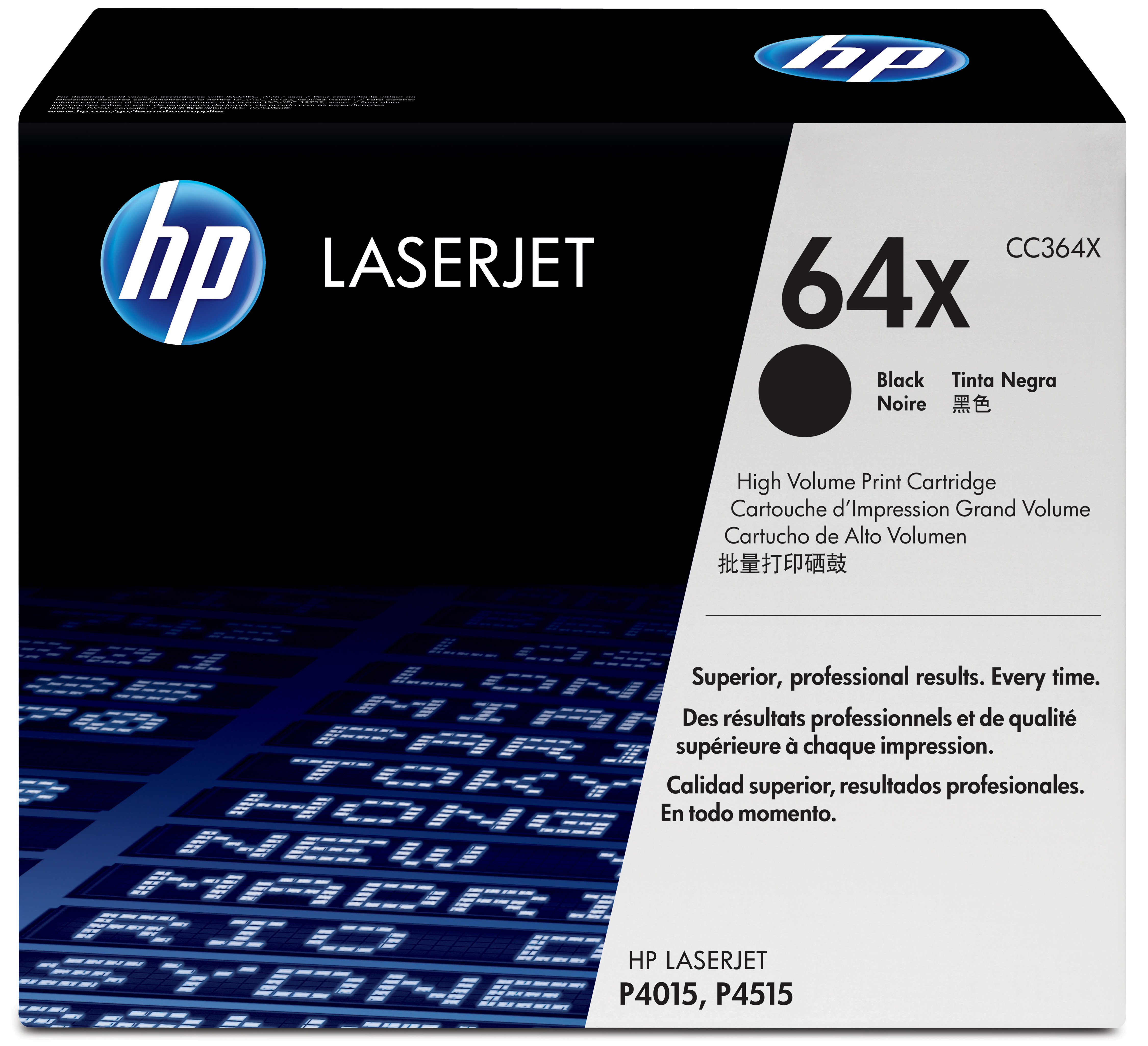 Remanufactured HP CC364X Toner Cartridge Black 24k CC364X - rem01