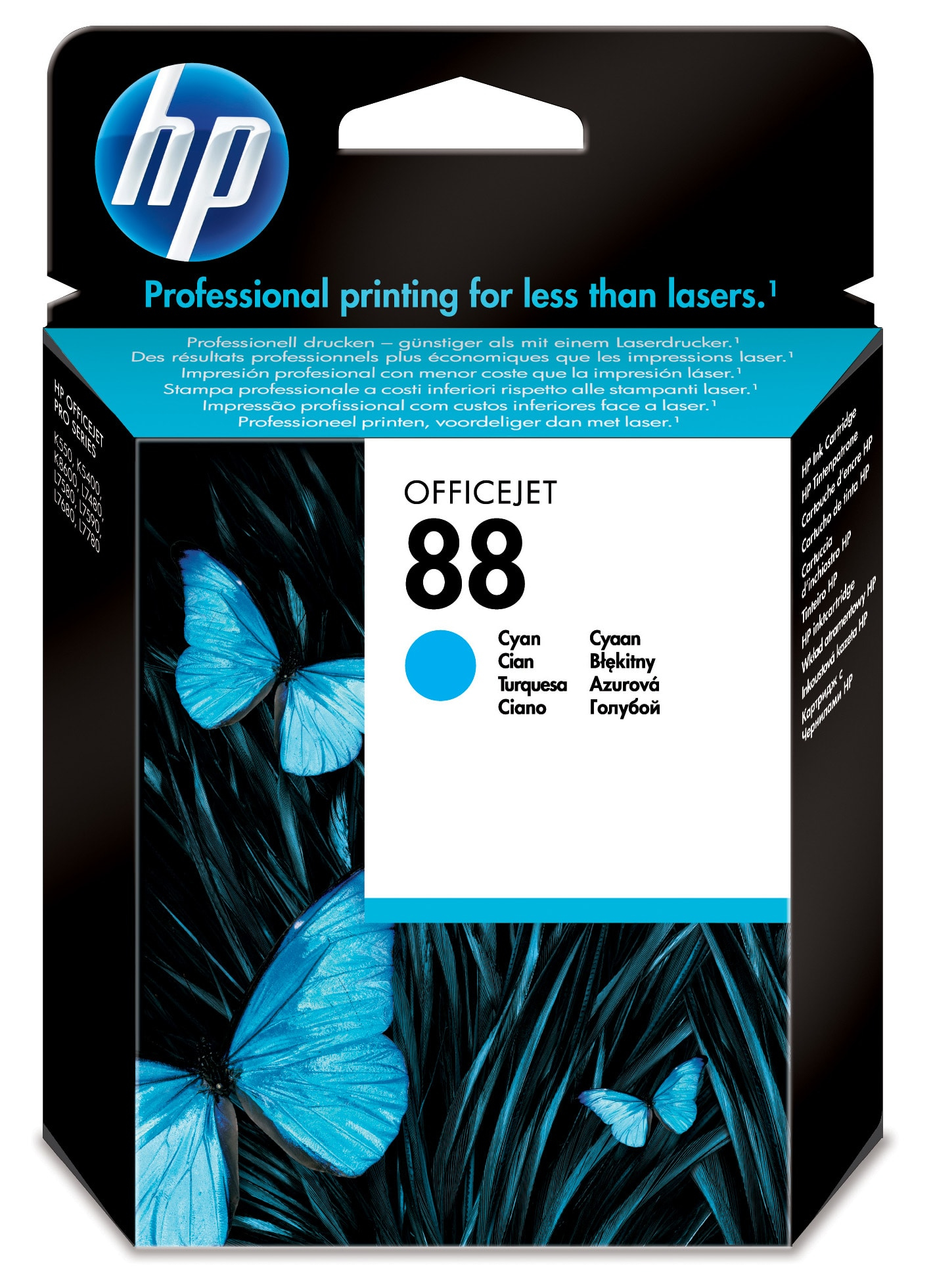 Remanufactured HP C9386AE (88) Cyan Ink Cartridge C9386AE - rem01