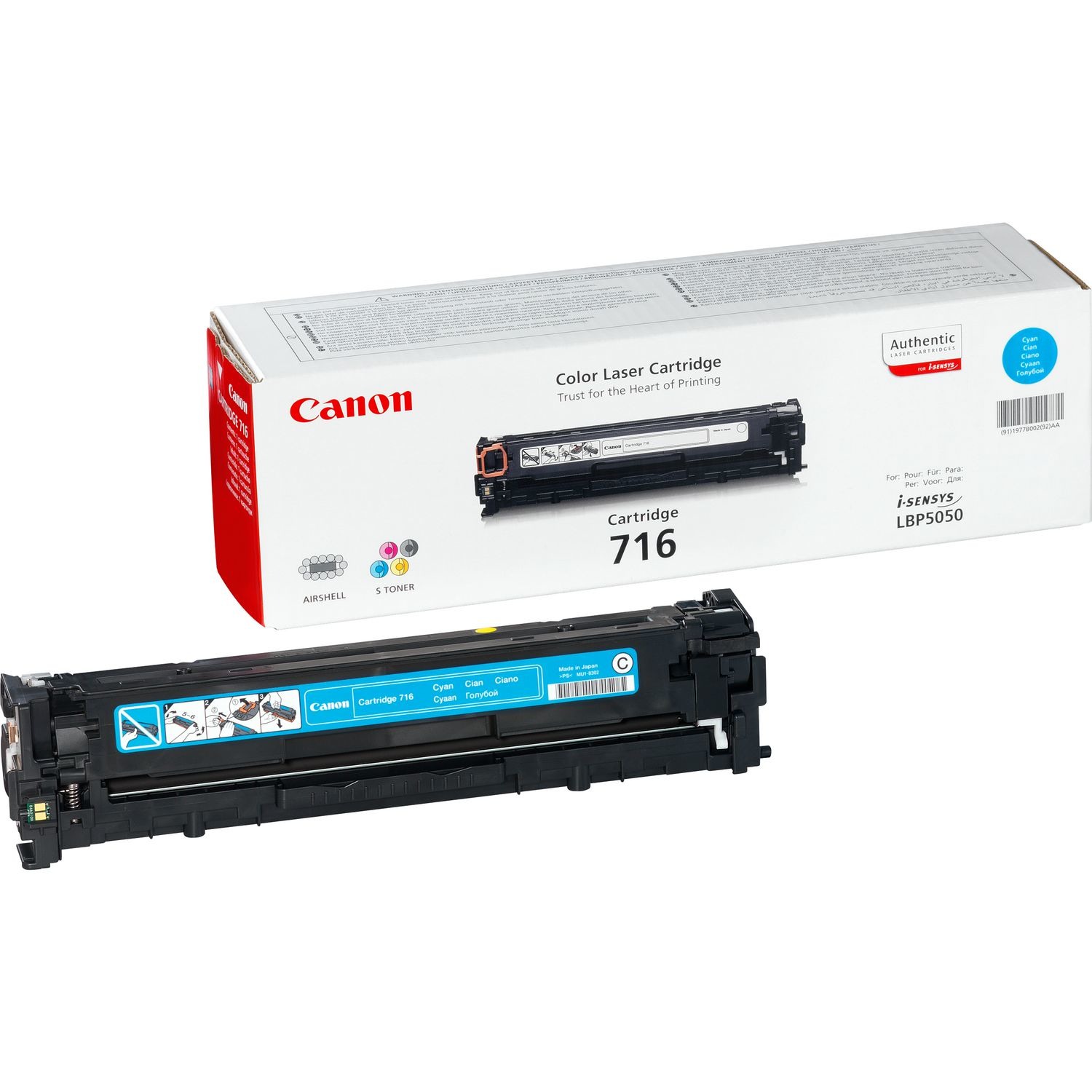 Remanufactured Canon 1979B002AA Toner Cartridge Cyan LBP 5050 (1.4k) 1979B002AA - rem01