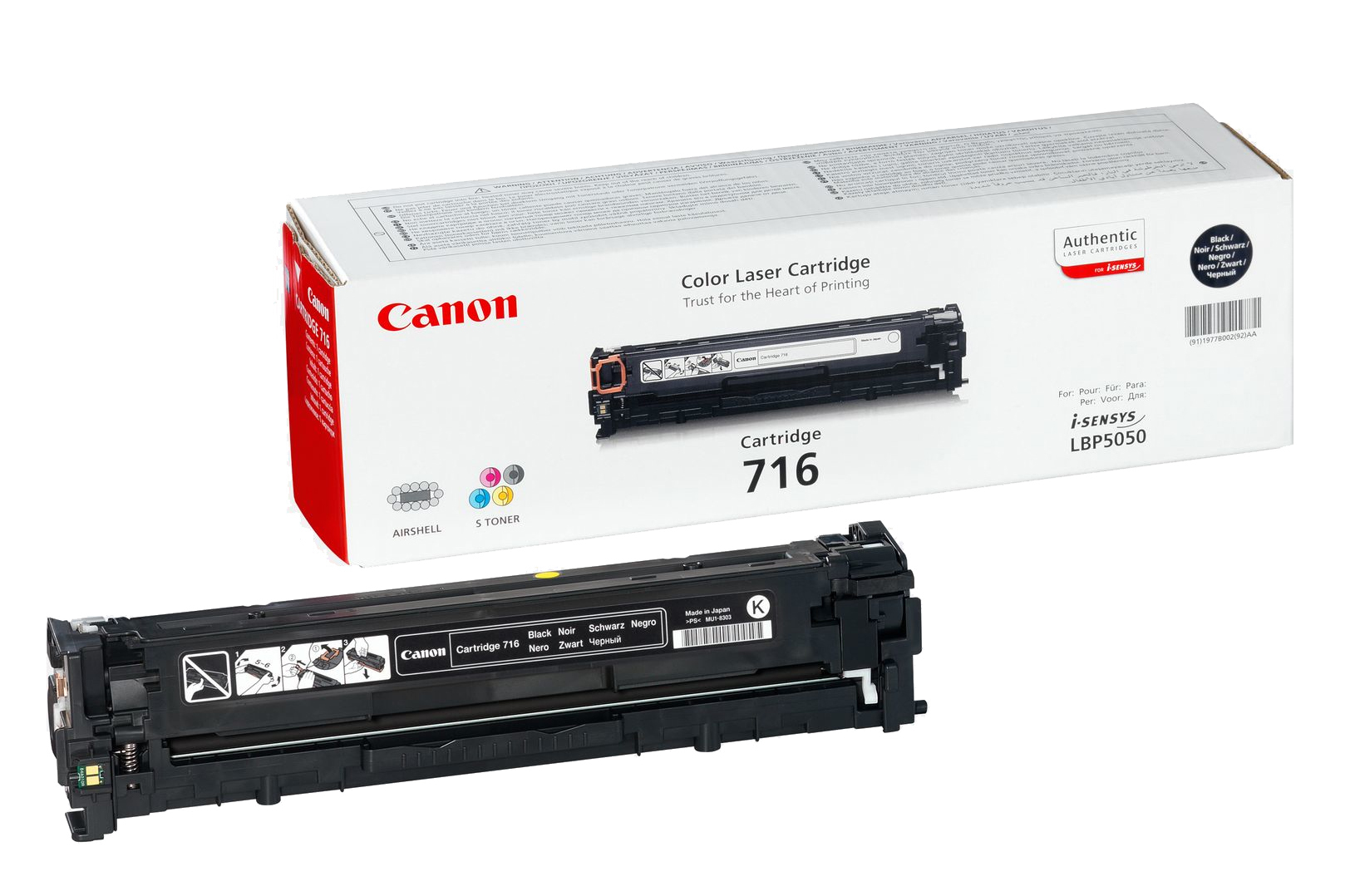 Remanufactured Canon 1980B002AA Toner Cartridge Black LBP 5050 (2.2k) 1980B002 - rem01