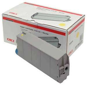 Remanufactured Oki 41963005 Toner Cartridge Yellow C7100 (10k) 41963005 - rem01