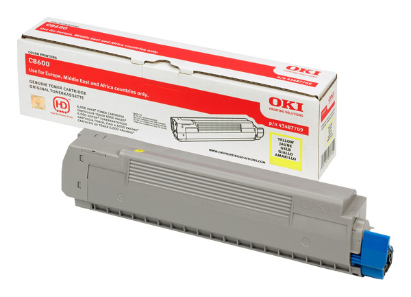 Remanufactured Oki 43487709 Toner Cartridge Yellow C8600 (6k) 43487709 - rem01
