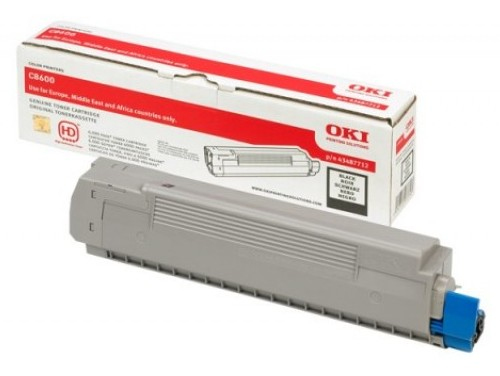 Remanufactured Oki 43487712 Toner Cartridge Black C8600 (6k) 43487712 - rem01