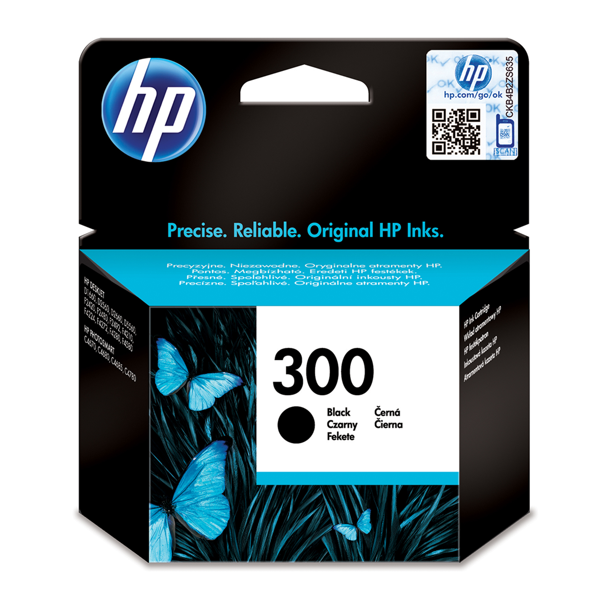 Remanufactured HP CC640EE (300) Black Ink Cartridge CC640EE - rem01
