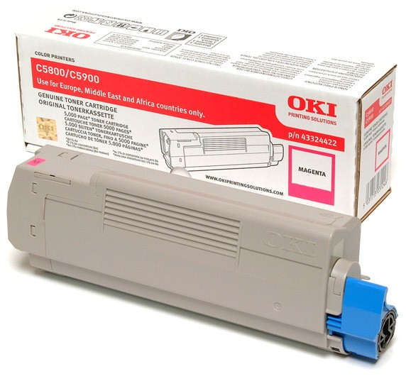Remanufactured Oki 43324422 Toner Cartridge Magenta C5900 (5k) 43324422 - rem01
