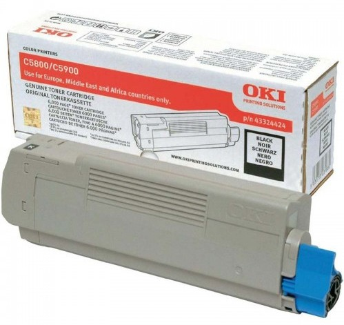 Remanufactured Oki 43324424 Toner Cartridge Black C5900 (6k) 43324424 - rem01