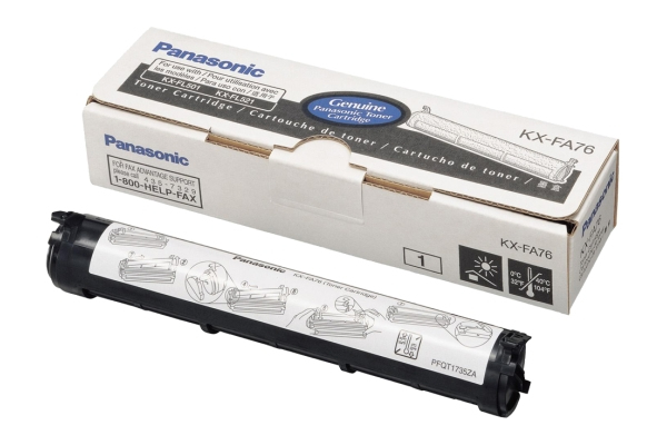 Remanufactured Panasonic KX-FA76X Toner Cartridge Black 2k KX-FA76X - rem01