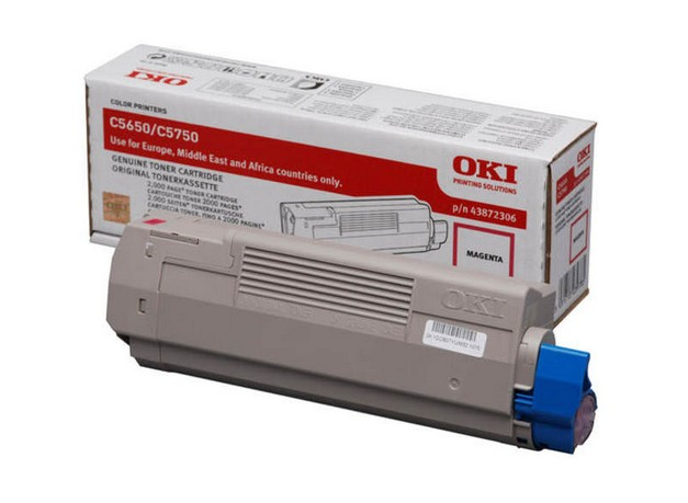 Remanufactured Oki 43872306 Toner Cartridge Magenta 2k 43872306 - rem01